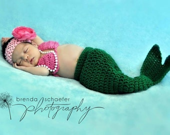 Crochet Mermaid Photo Prop