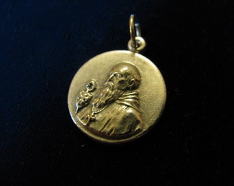 Silver Medal of St Benedict cross pendant for religious jewelry, rosary,necklace,bracelet