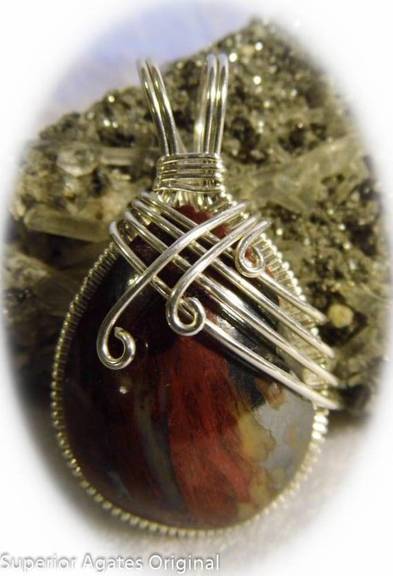 RARE Genuine Binghamite Wire Jewelry Pendant