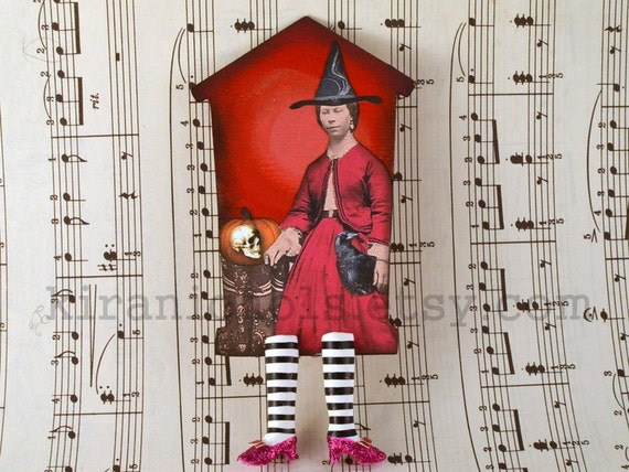 ON SALE -The ORIGINAL Wicked Witch Bookmark with Pink Ruby Slippers - Wicked Awesome Series 9/100 - Witch Legs Bookmark