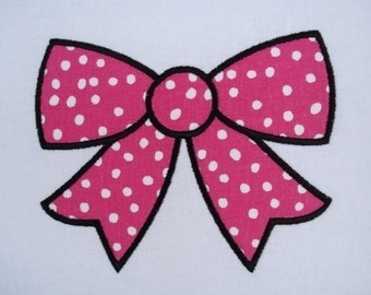 Ribbon Bow Machine Embroidery Design Applique 4x4 and 5x7