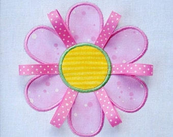 Embroidery Design for Machine Embroidery - Applique Flower with Six Petals - Two Sizes 4x4 and 5x7