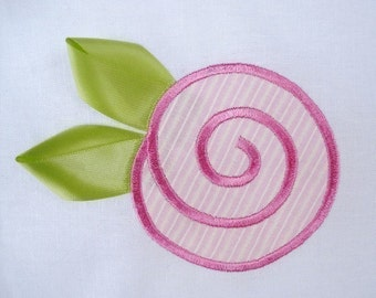 Rosebud Applique Machine Embroidery - 3x3 and 4x4