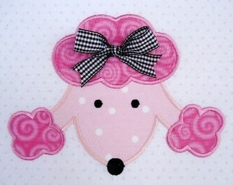 Machine Embroidery Applique Design - Poodle Face 4x4 and 5x7