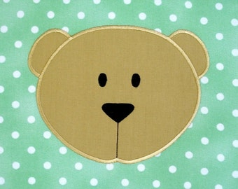 Bear Face Machine Embroidery Design Applique 4x4 and 5x7