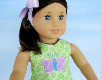 In-The-Hoop  - Halter Top with Heart & Butterfly Applique for 18 Inch Dolls Machine Embroidery 5x7