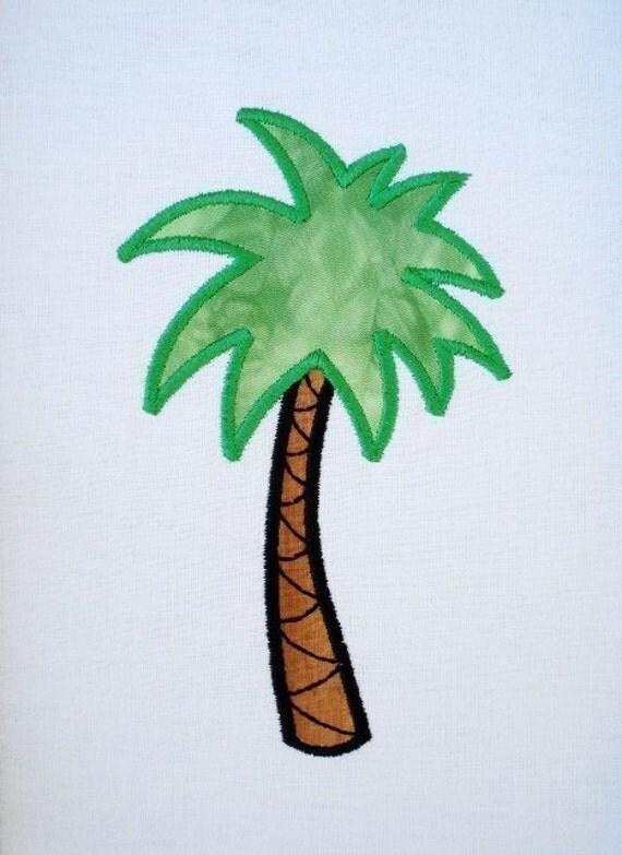 Palm Tree Machine Embroidery Design Applique - Three Sizes - 4x4, 5x7 and 6x10