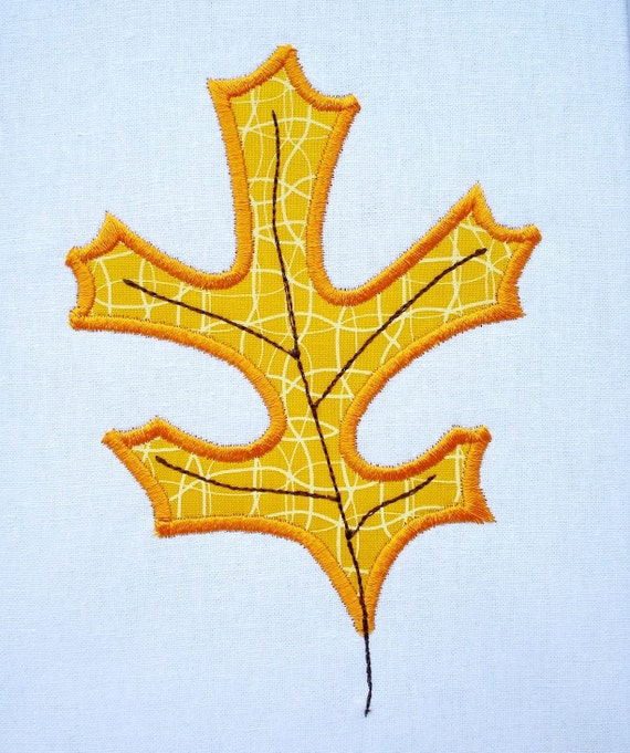 Oak leaf applique machine embroidery and by