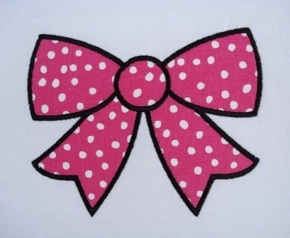 Items Similar To Ribbon Bow Machine Embroidery Design Applique 4x4 And 5x7 On Etsy