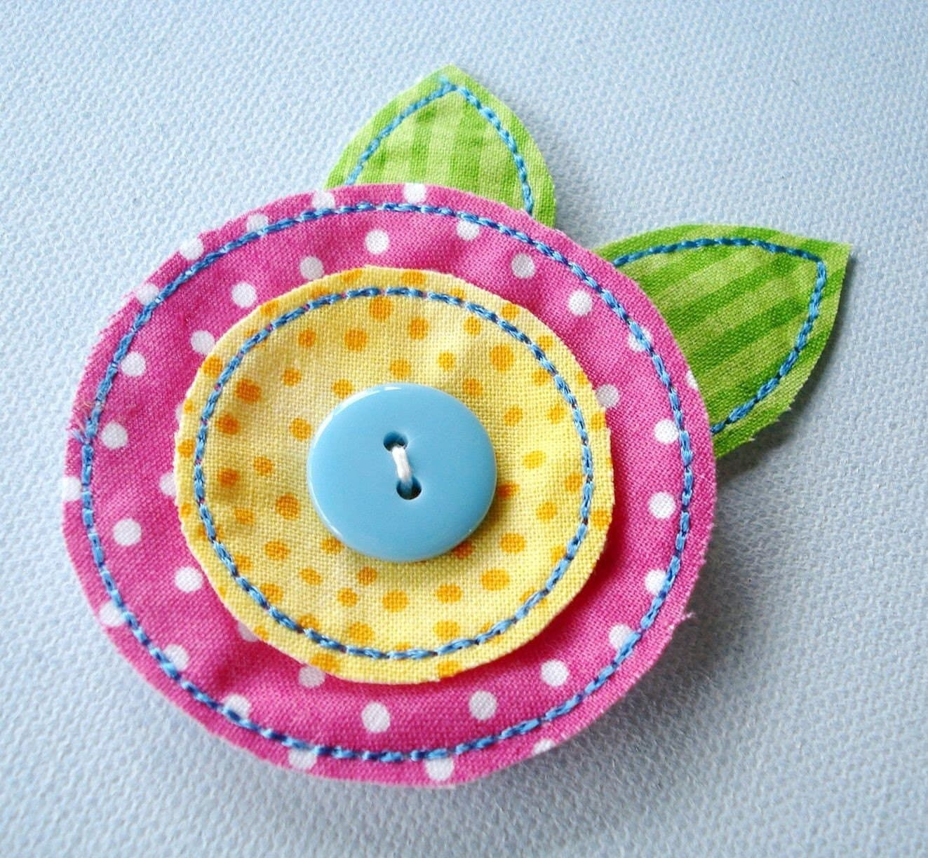 In the hoop felt fabric flowers machine embroidery two
