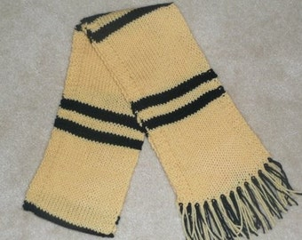 Harry Potter Hufflepuff School House Colors Scarf