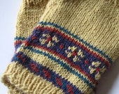Fingerless Gloves Mustard Yellow Handknit Mitts Winter Accessory