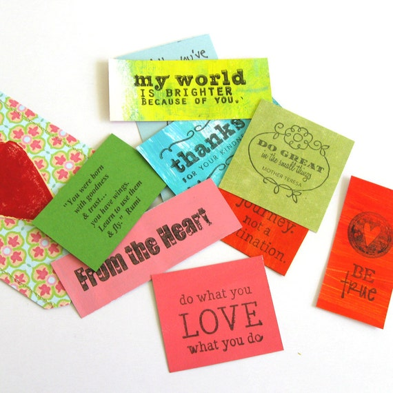 Pocket Full of Quotes to Inspire Love - by Caryn Lynn Duncan - small gift - mailable gift - encouragement - colorful