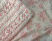 shabby chic SHAMS -  roses, flowers, pink
