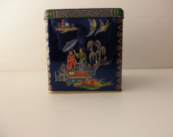 Asian Daher Vintage DECORATIVE TIN Made in ENGLAND