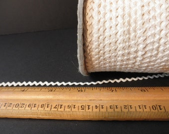 five yards of vintage rick rack-cream-cotton