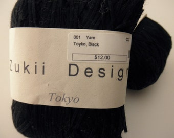 Zukii Designs cotton yarn-Tokyo-black-one ball