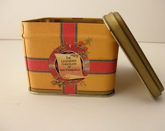 Ghirardelli's DECORATIVE TIN - Chocolate