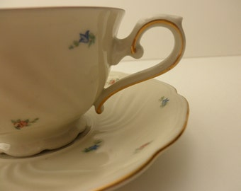 Vintage CUP AND SAUCER-Made in Bavaria, flowers, floral, shabby chic