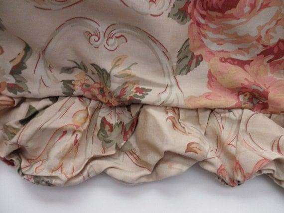 Vintage Ralph Lauren Floral Cotton Duvet With Ruffle Shabby