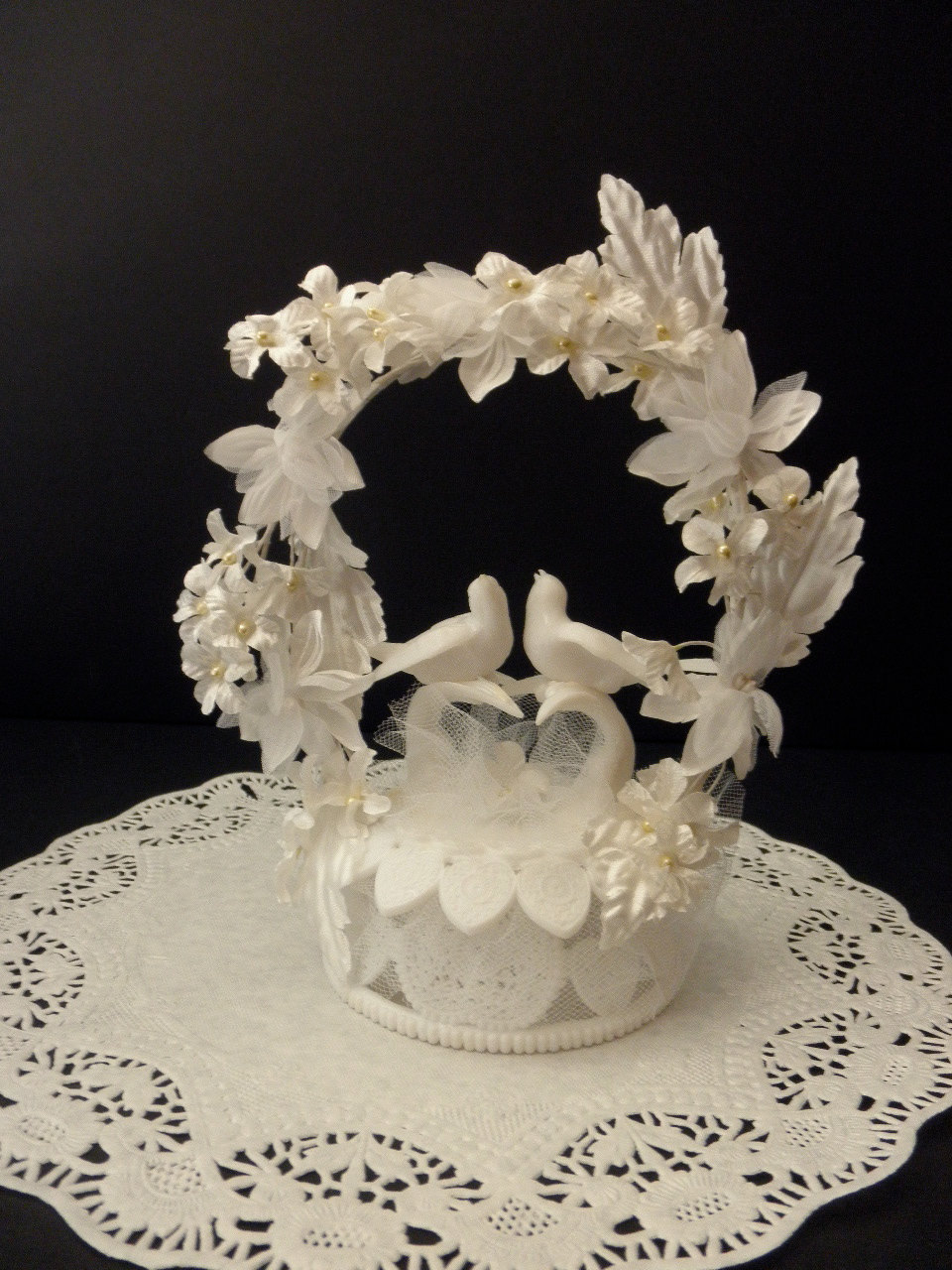 Reserved Vintage Wilton Wedding Cake Topper Doves