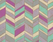Aqua Purple Chevron 10x10 Print Mounted on Canvas
