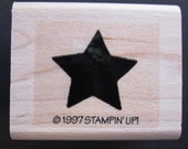 rubber stamp - small star, solid, shadow