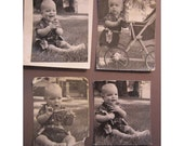 SALE - vintage photos - BABY cowboy, baby with toy gun, dressed up, baby carriage, retro, 1950s - 1960s