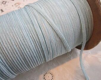 10 yards vintage trim - BABY BLUE middy braid, rayon blend - 5/16 inch wide