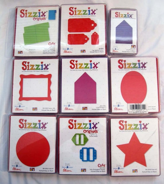 SIZZIX die - YOUR CHOICE of frame or star - gently used