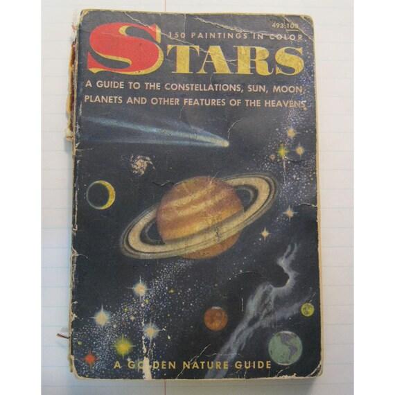 SALE - antique book - STARS - A Golden Nature Guide - circa 1956