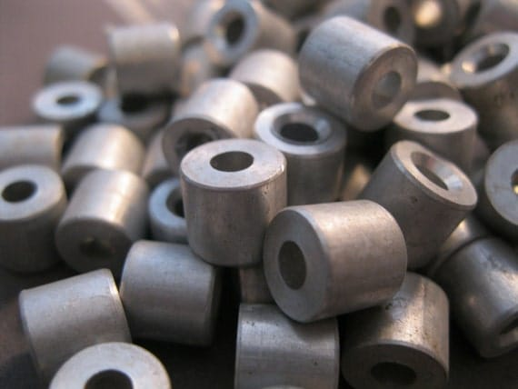 STEAMPUNK JUNK - aluminum spacers - great for assemblage, shrines, jewelry designs, altered art - destash