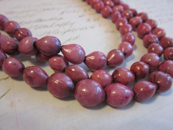 Job's TEARS - beads - PINK seeds - very long strand - 88 inches - natural, jewelry design