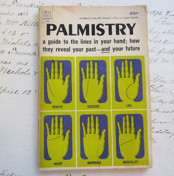 vintage booklet - PALMISTRY - Palm Reading - palm reader - fortune teller - circa 1968