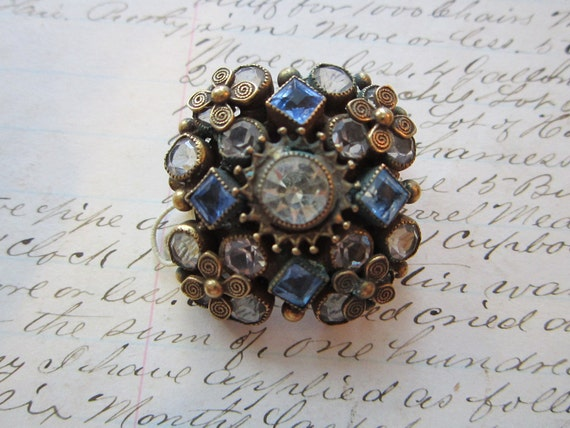 SALE - antique brooch - SANDOR Co. - purchased at Marshall Field and Co - circa 1940s to 1950s