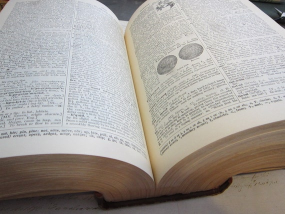 HUGE antique dictionary - The New Century Dictionary - circa 1957