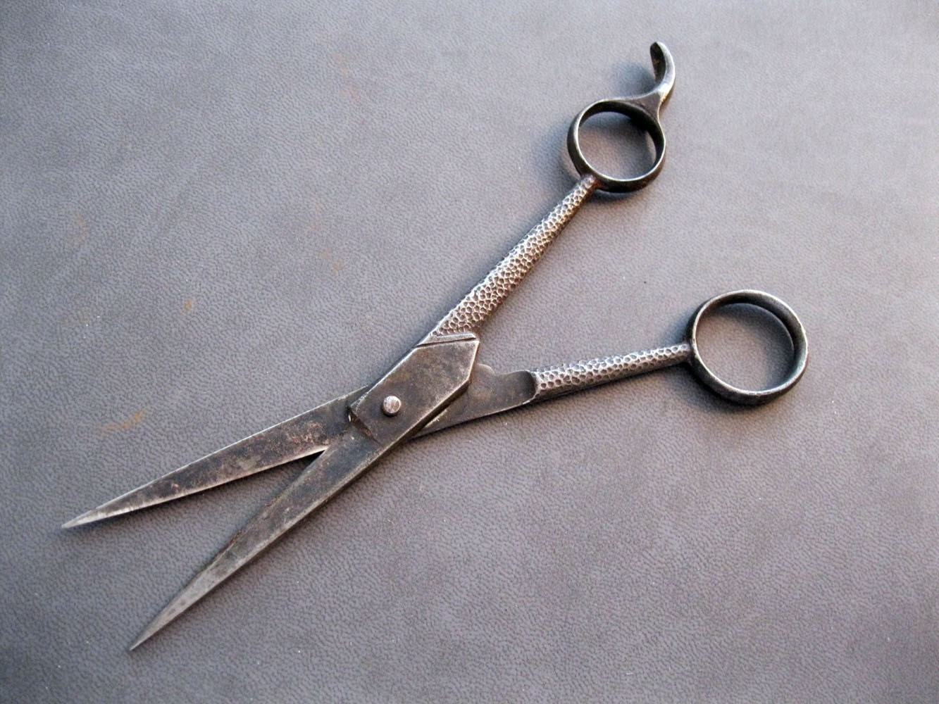 vintage hair scissors ornate textured Sweeney Todd old