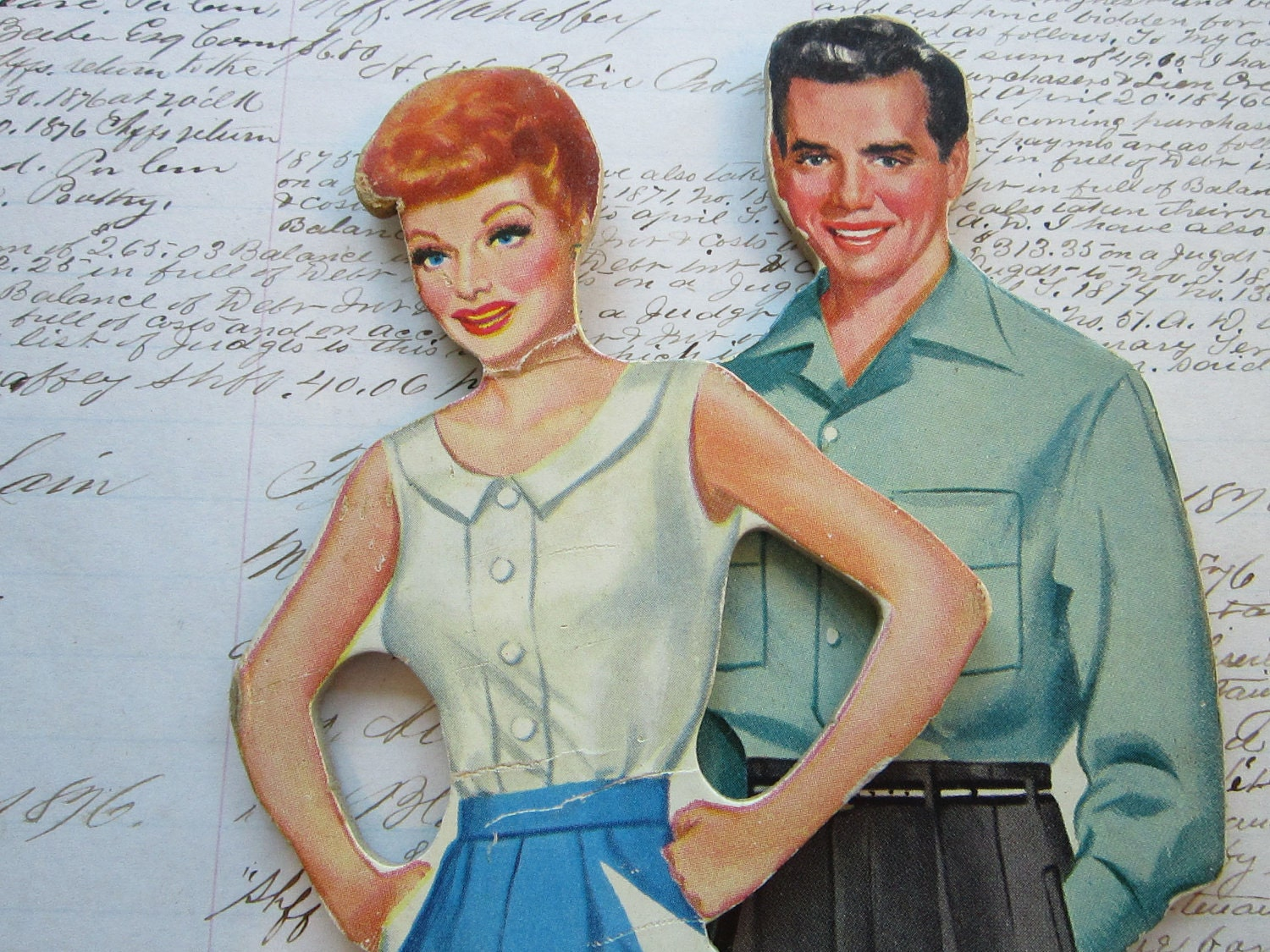 Vintage paper dolls lucille ball and desi arnaz by for How tall was lucille ball and desi arnaz