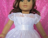 lace communion dress and veil for your American Girl doll