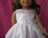 embroidered communion dress for your American Girl doll