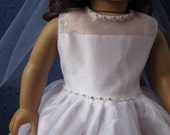 communion dress with rhinestones will fit your American Girl doll