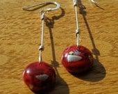 Dew Drop Earrings in red