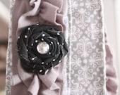 Grey Ruffled Camera Strap