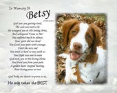 Personalized pet memorial poem and photo  He only takes the BEST .. cat dog Pet loss sympathy Pet lover