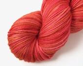 Copper Coral Reef Merino Silk Glacier Fingering Sock Yarn