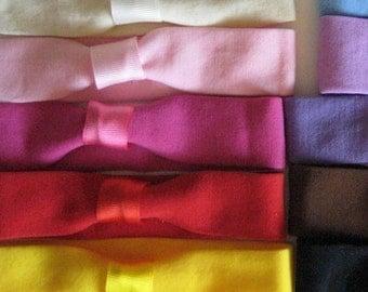 Choose 5 Cotton interchangeable headbands - toddler - baby - flower - bow - Animal Print - Cotton Headband