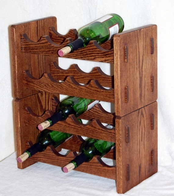 Wine bottle rack in arts and crafts style for Arts and crafts wine rack
