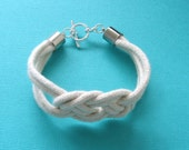 Knotty, Natural Rope Bracelet with Silver Toggle