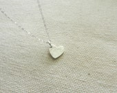 Tiny heart necklace in sterling silver, tiny love, dainty delicate jewelry