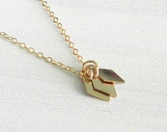 Tiny diamonds necklace, joie, modern simple jewelry
